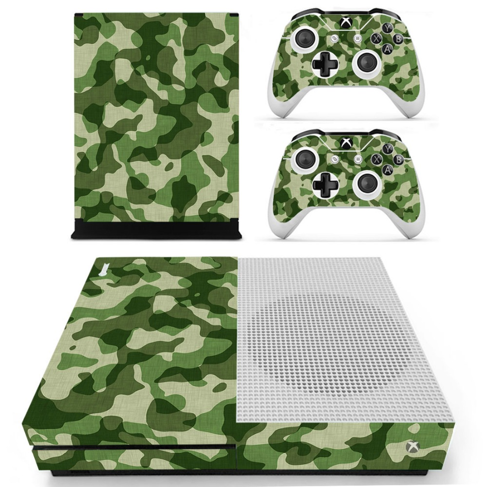 S0043 Decal Vinyl Skin Sticker Protector for Microsoft Xbox One Slim Console and 2 Controllers skins Stickers for XBOXONE Slim