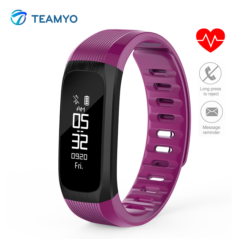 Teamyo Smart Band Heart Rate Monitor Cardiaco Smart wristband Pulsometer Sports Fitness Bracelet Waterproof For Android Iphone