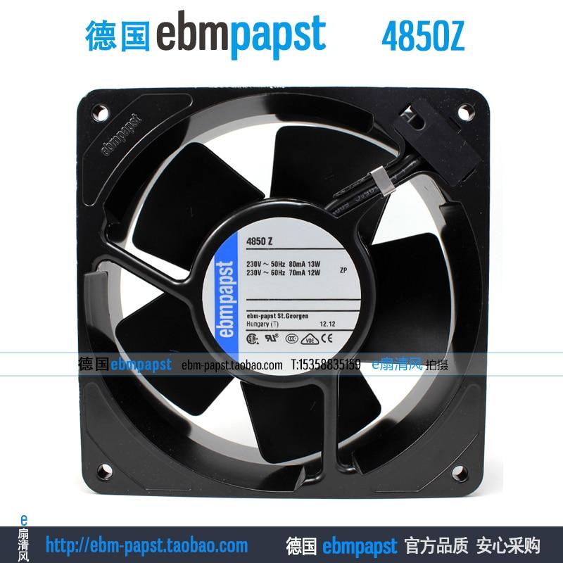 Original new ebm papst 4850Z 4850 Z AC 230V 0.08A 0.07A 13W 12W 120X120X38mm Server Square fan new original ebm papst iq3608 01040a02 iq3608 01040 a02 ac 220v 240v 0 07a 7w 4w 172x172mm motor fan