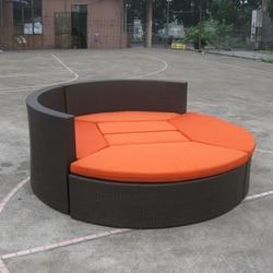 Gorąca sprzedaż dobrej jakości aluminiowa rama meble ogrodowe PE rattan Patio meble zestaw kanapa wypoczynkowa dla sportu na świeżym powietrzu transportu drogą morską
