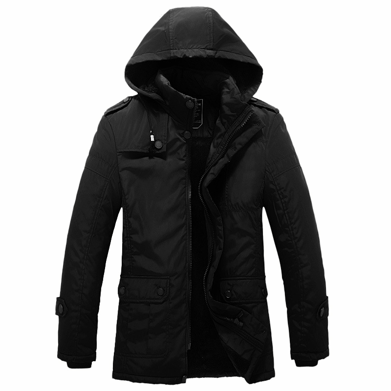 ФОТО 2016 Jacket Men Luxury Brand Winter Parka Designer Thickening Long Coats Hooded Casual Men