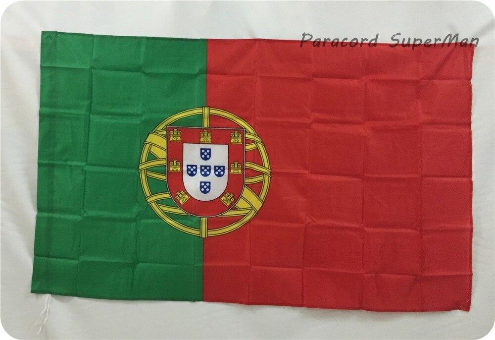 2PCS/LOT Bandeira De Portugal Portugal Flag 3ft X 5ft Hanging Flag Polyester Portugal Banner Flag 150x90cm For Celebration