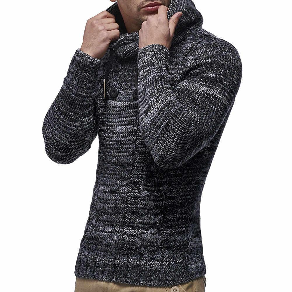 Для мужчин куртка Для мужчин зимний осенний пуловер; вязаный кардиган; пальто; куртка с капюшоном свитер пальто куртки и пиджаки Мужская шерстяная куртка # g10