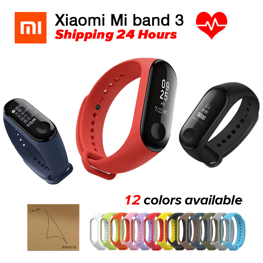 Xiaomi Miband 3 Mi Band 3 Bracelet Fitness Tracker Heart Rate Monitor 0.78'' OLED Display Touchpad Bluetooth 4.2 For Android IOS in stock original xiaomi mi band 3 miband 3 smartband oled display touchpad heart rate monitor wristbands bracelet xiaomi mi 8
