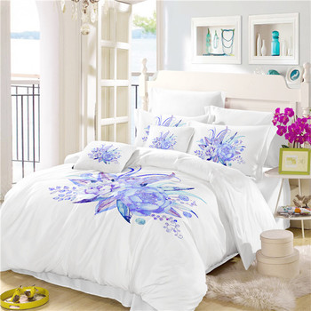 Jessy Home Bedding  Bed Linen Set The Plain Color Of Tow Water Lily Drop Shipping A7