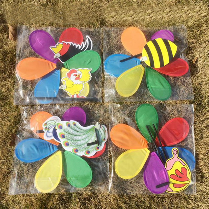 Aliexpress Buy Colorful 3D Insect Large Animal Bee Ladybug Windmill Wind Spinner Whirligig Yard Garden Outdoor Lawn Decor From Reliable