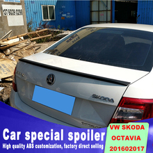 DIY Spray paint for any color 2015 to 2017 year Volkswagen VW SKODA Octavia by rear trunk spoiler Curve modes wings