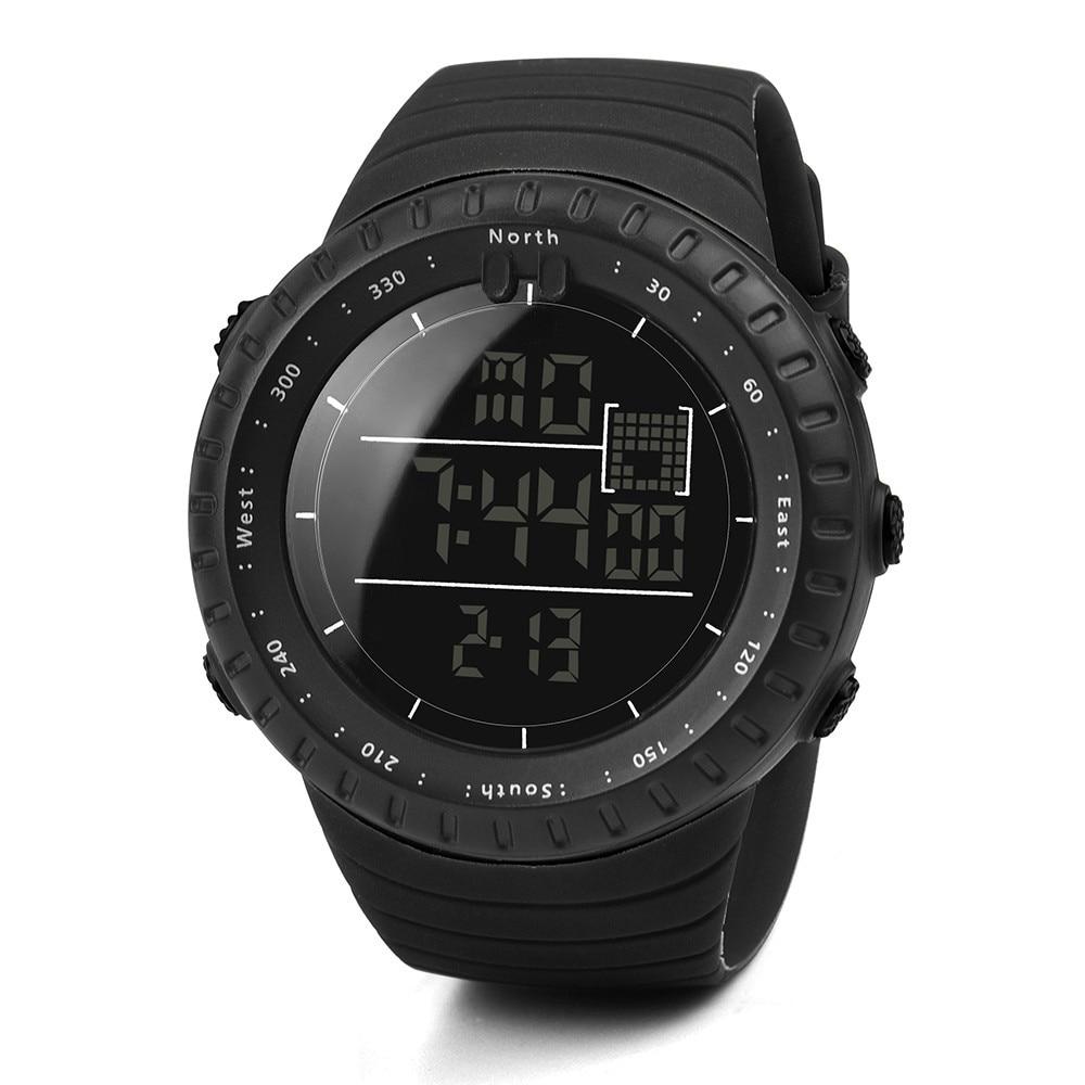 Vogue Casual Sports Men's Watches New Fashion Black Rubber Band Man Digital Army Military Quartz Wrist Watch erkek kol saati A65