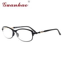 Guanhao Брендовая Дизайнерская обувь Титан Очки для чтения Для мужчин Для женщин унисекс TR90 Рамка ультра-легкий пресбиопии очки