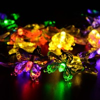 Solar Lamps 7 5M 40 LEDs Colorful Butterfly Garland Holiday Decoration Outdoor Garden Christmas Solar Powered