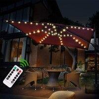 Lámpara de sombrilla mejorada para Patio, lámpara de sombrilla para jardín, IP67, impermeable, tira de luces LED, decoración Flexible, lámpara de iluminación para exteriores Ogrodowy