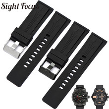 Rubber Silicone Men Watchband for Diesel DZMC0001 Series Watch