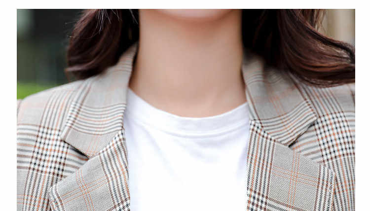 2 sets of 2018 spring and autumn new women's Korean fashion casual plaid suit jacket + slim shorts set two-piece