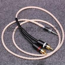 1 М Viborg ОКК Медь и Посеребренные hifi аудио кабель 2 rca до 3.5 ММ hifi 1 до 2 аудио-видео кабель