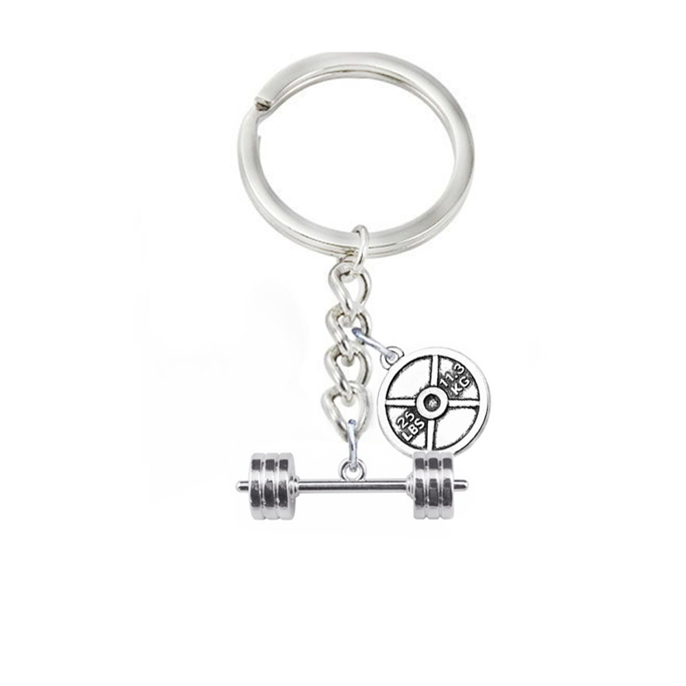 DOUBLE NOSE Alloy Antique Silver Plated Weight Lifting