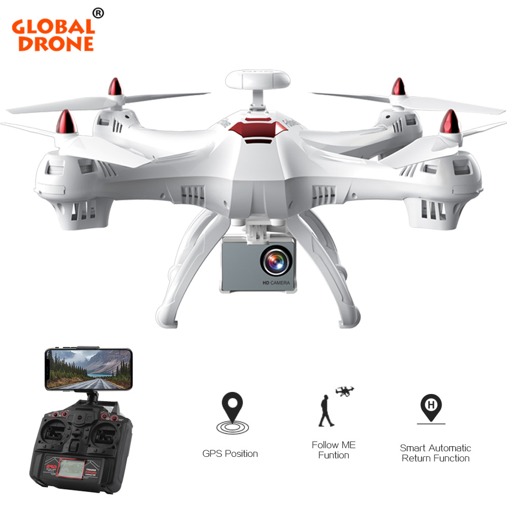 Global Drone X183 RC GPS Drone with Camera 4K 1080P Wide-Angle HD Professional WIFI FPV Quadcopter Helicopter VS SYMA X8 X8PRO mini rc global drone 2 4g 6 axis x183 gyro quadcopter with 2mp wifi fpv hd camera gps brushless mode remote control toys gifts