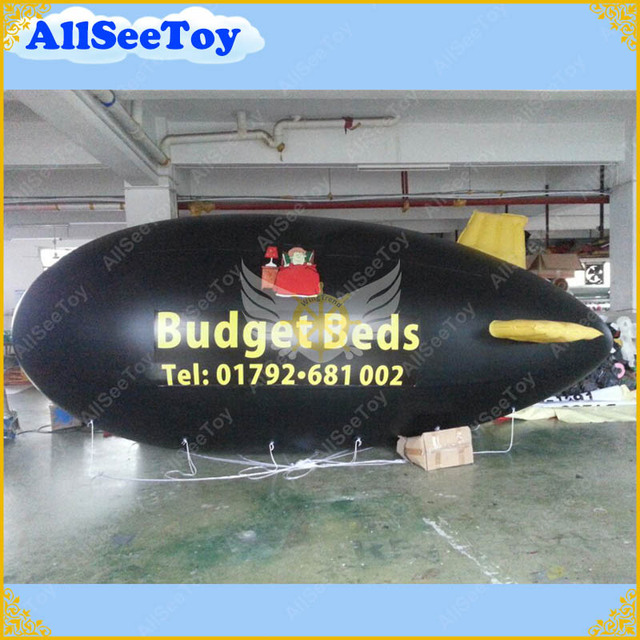 6 meters  Inflatable Advertising Helium Blimp/Airship/Zeppelin with Your BIG LOGO as you want /FREE Shipping