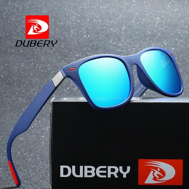 01f89268116 DUBERY Polarized Sunglasses Men Outdoor Sport Driving Sun Glasses For Male  Square Eyewear Mirror Luxury Brand Designer UV400
