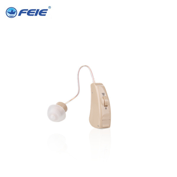 Micro ear mini BTE  Analog Hearing Aid For External Deaf  FE-205 Free Shipping analog bte hearing aid deaf sound amplifier s 288 deaf aid with digital processing chip free shipping