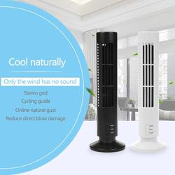USB Vertical Bladeless Fan Mini Air Conditioner Fan 2.5 W Desk Cooling Cool home Office Table Tower Fan