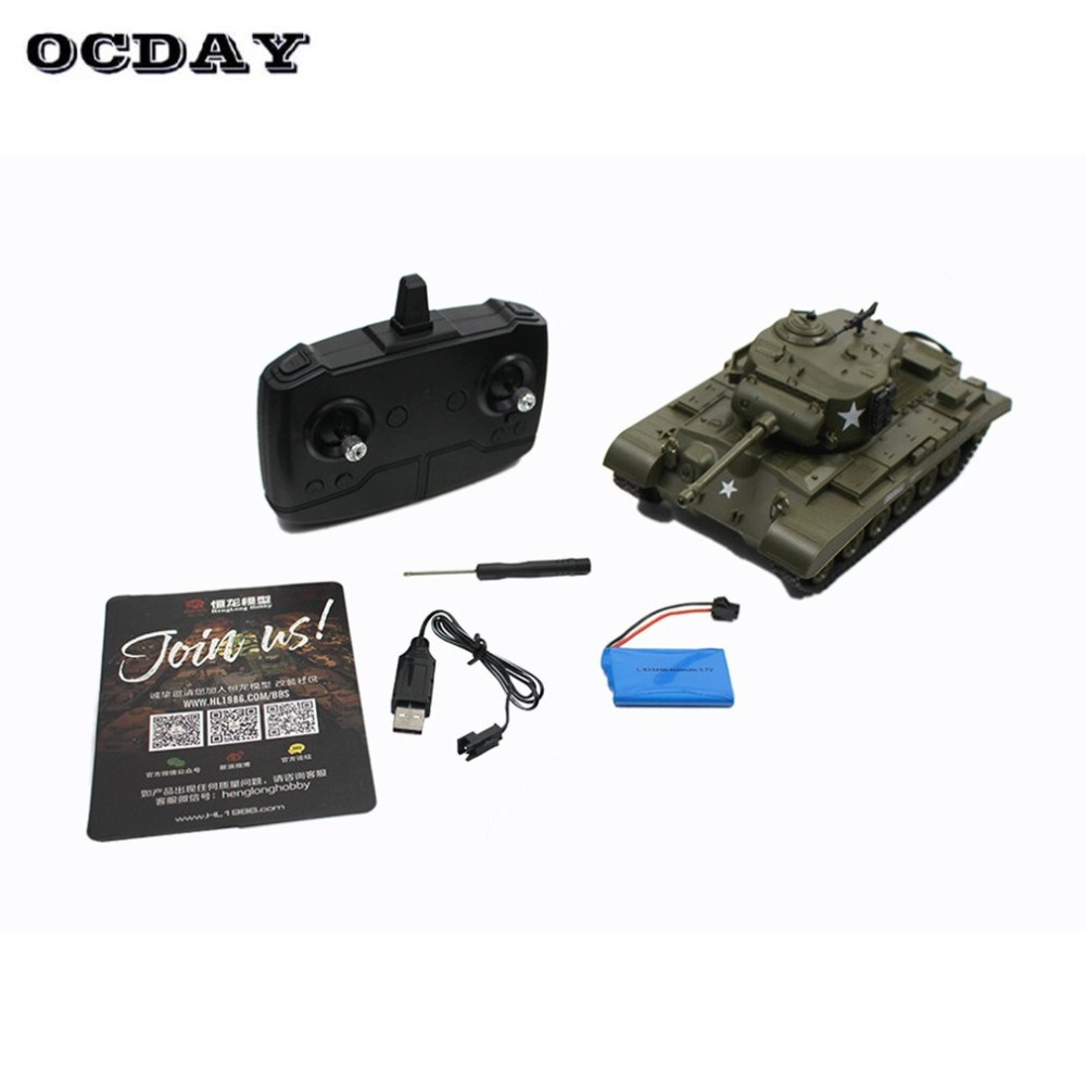 2.4G Infrared RC Battle M26 Emmagee Remote Control Tank & Pershing Tank Cannon Remote Toys for Children Boys Best Gift fz 2 4g huanqi 516c rc infrared battle tank automatic shows tank remote control toys tank for children gift 1pcs lot
