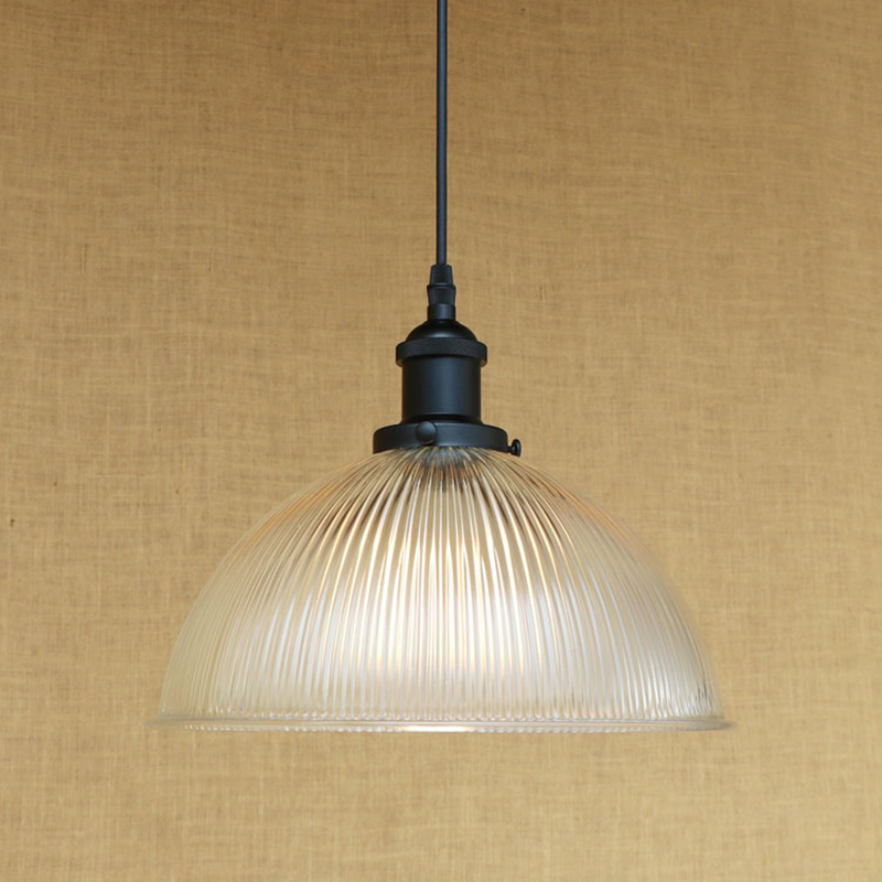 Modern Minimalist Vintage clean glass shade pendant lamp Indoor Lighting E27 luminaire suspension LED Edison bulb 220v