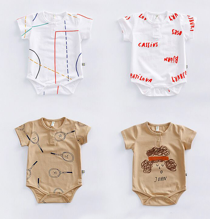 Baby clothing 2017 summer baby short sleeve bodysuits bobo choses jumpersuit for baby clothes newborn outfit