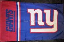New York Giants wordmack column black Flag 3x5FT NFL banner150X90CM 100D  Polyester brass grommets custom flag 951179de5