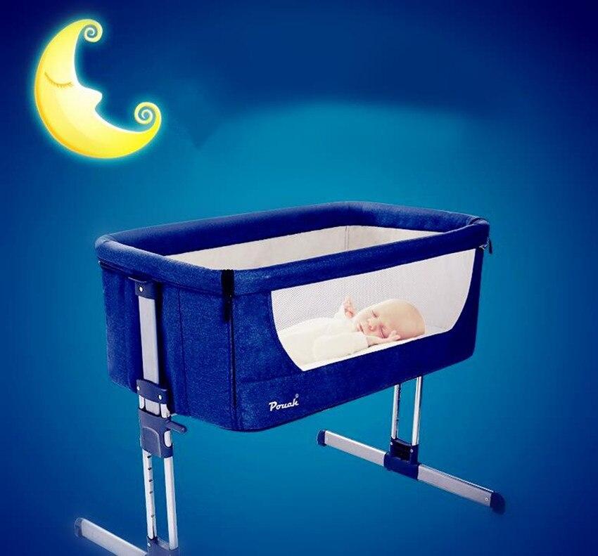 Чехол многофункциональные детские кровати сопровождающих кровать новорожденного связан с кровати родителей младенческой Путешествия сна