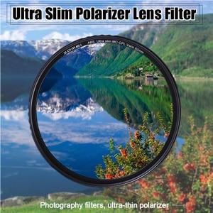 Image 2 - ZOMEI ABS אופטי זכוכית CPL דק רב מצופה עגול מקטב קיטוב HD עדשת מסנן עבור DSLR עדשת 49/ 52/58/67/72/77/82mm