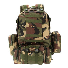 лучшая цена 50L Military Tactical Backpack Large Capacity Hiking Camping Camouflage Backpack Outdoor Climbing Bag Travel Backpack