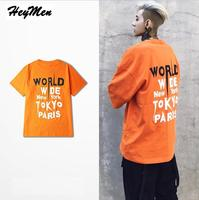 Big Promotion Kanye West T Shirt American Tide Brand Hip Hop Worldwide New York Tokyo Paris