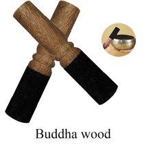 1 pc budismo tibetano cantando tigela mallet madeira atacante com cabeça de couro envolto com leathe premium relaxar yoga arte artesanato @ 30