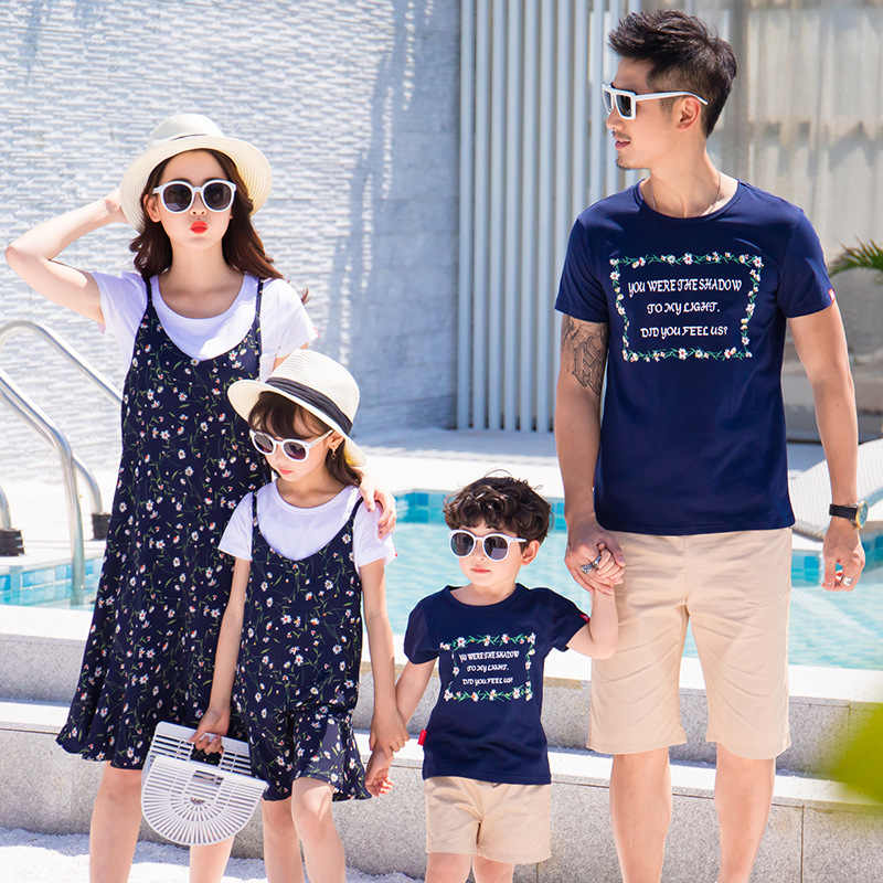 4535de4af4 Family matching clothes father mom daughter son mom mommy and me clothes  clothing dress couple family