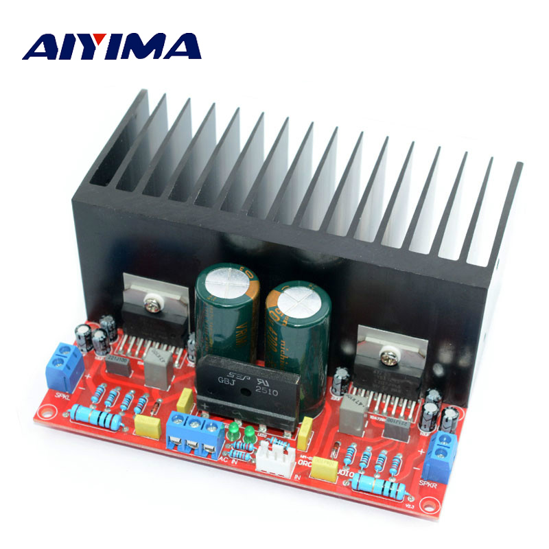 AIYIMA Stereo Amplifiers Audio Board Amplificador Fever TDA7293 Hi Fi Power Subwoofer DIY Amplifier Kits 100Wx2 Amp Board