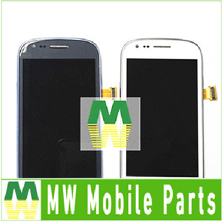 1 PC / Lot White Blue Color For Samsung Galaxy S3 Mini I8190 LCD +Touch Screen +Frame Full Digitier Assembly Free Shipping