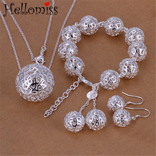 hibride luxury clear cubic zircon women jewelry sets bridal wedding wihte gold color necklace set parure bijoux femme n 280 Wedding Jewelry Sets for Women Big Hollow Ball Pendant Necklace Earrings Bracelet 3 Pcs Bridal Jewelry Set Fashion Bijoux Femme