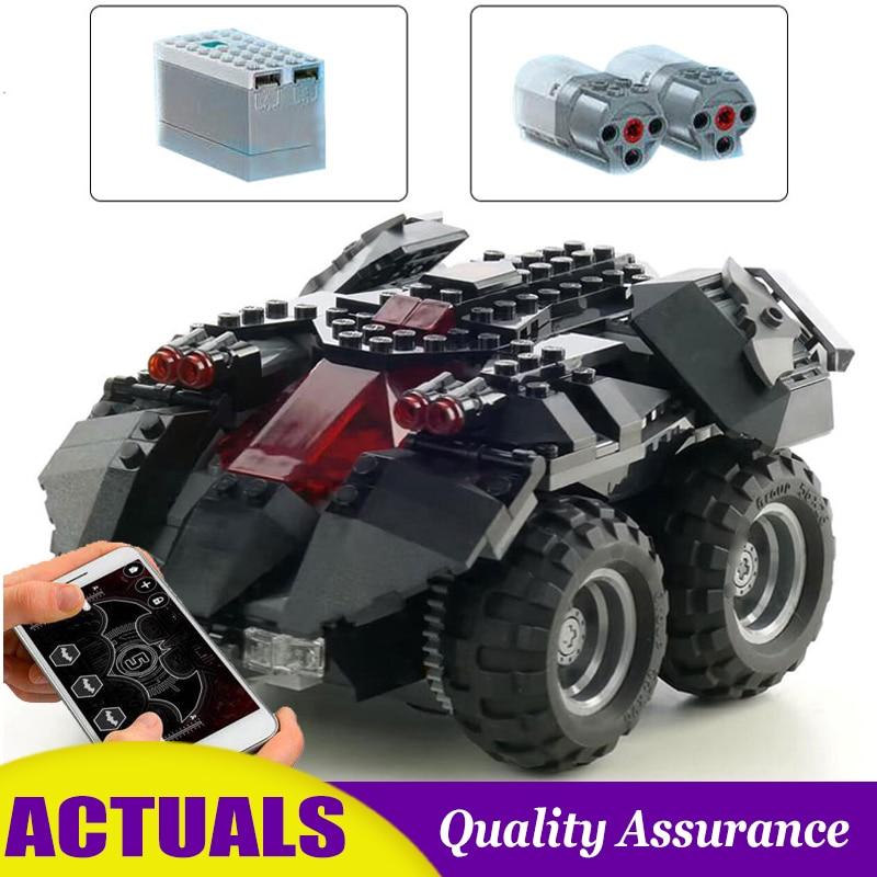 App Controlled Motorized Batmobile Compatible 76112 Super Heroes Building Blocks Vehicle Car Brick Boy Toy