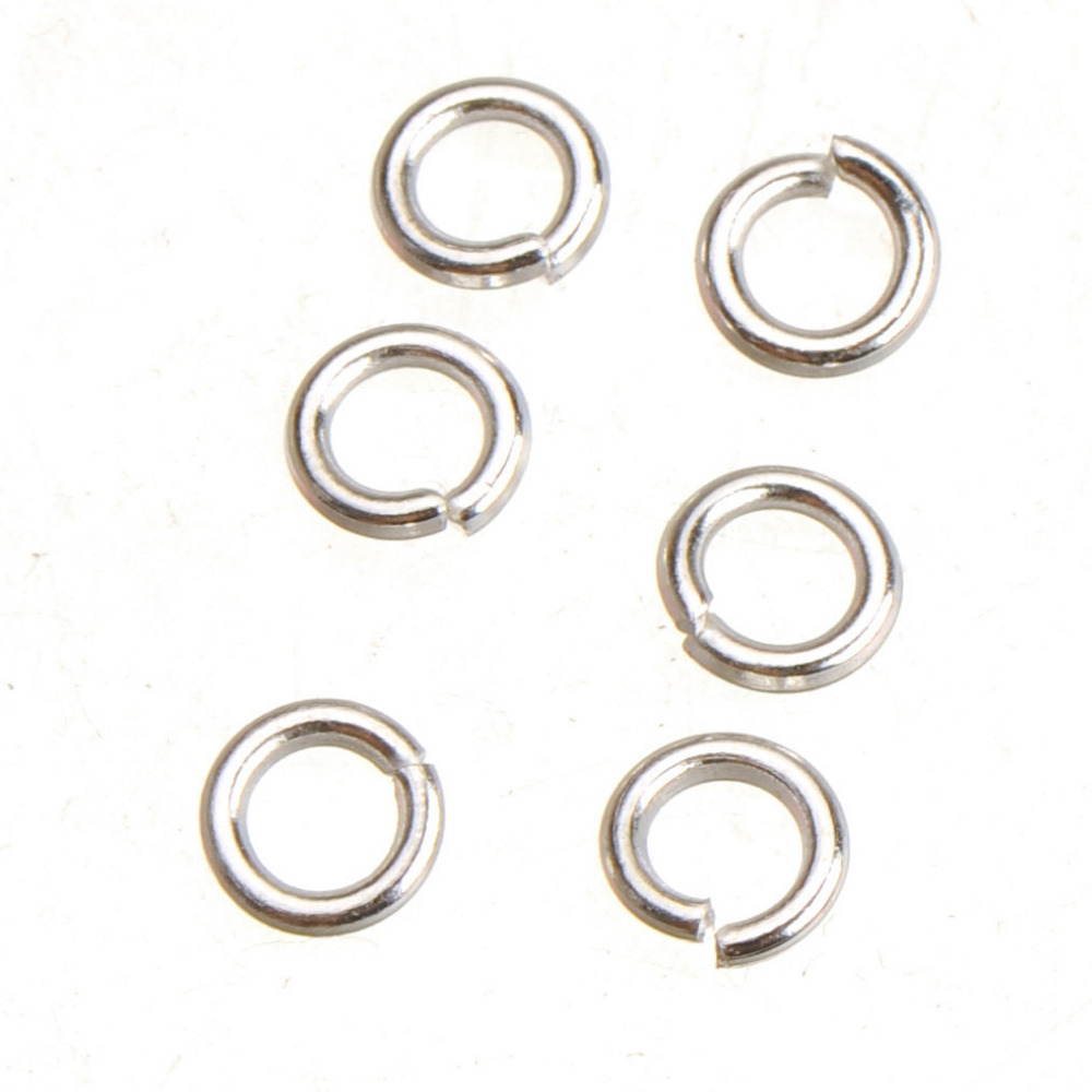 Jewelry Findings & Components 5mm Jump Rings Bracelets Necklace Crafts Diy Making Shiny Silver Open 1mm Thick Split Ring New 50g