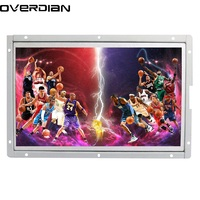 10/10.1Industrial Control PC Lcd Monitor VGA/DVI Interface White Open Frame Metal Case 1366*768 Monitor for Computer