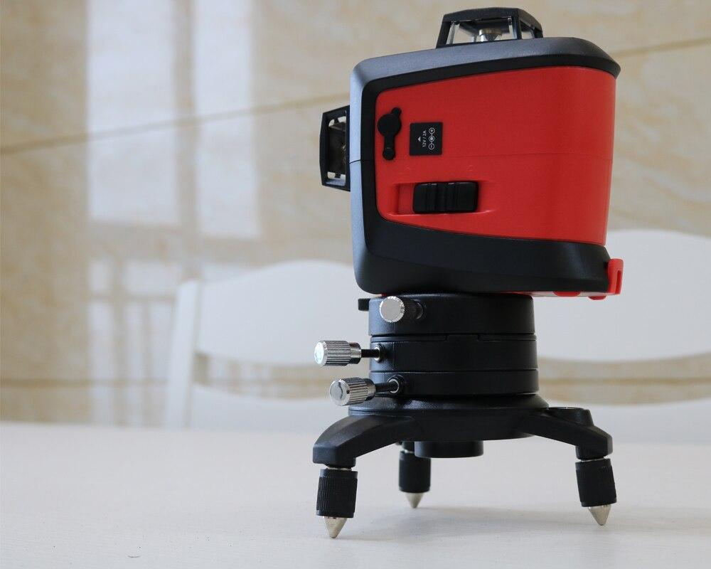 2018 Nouveau Fukuda 12 lignes MW-93T batterie au lithium rouge laser niveau 360 Verticale Et Horizontale Auto-nivellement Croix Ligne 3D Laser