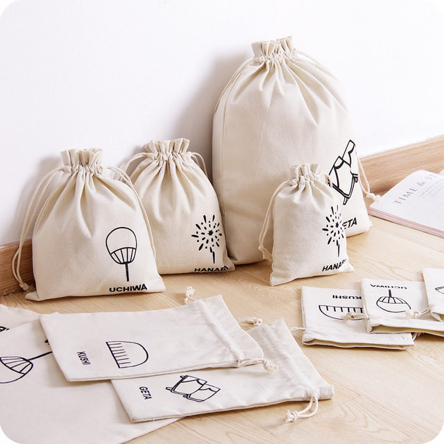 8c4e47e03085 Custom natural cotton pouch cotton drawstring bag for jewelry with screen  printing logo