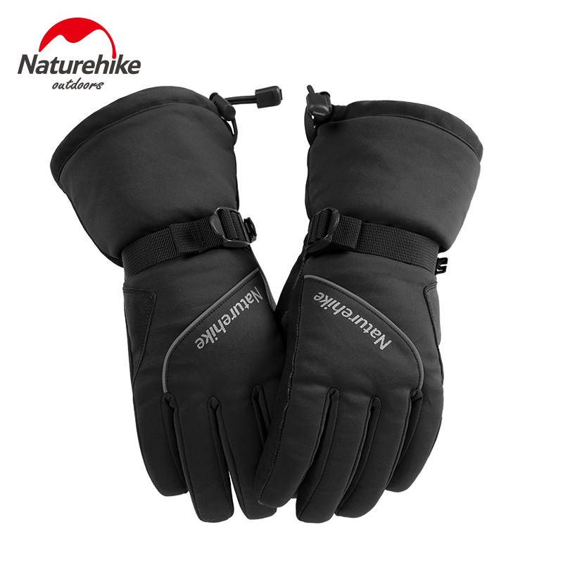 Naturehike Winter Snowboard Gloves For Women Ski Gloves Windproof Waterproof Non-slip Skating Skiing Gloves Cotton Warm