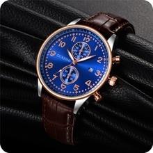New Fashion OUKESHI Men Watches Analog Quartz Wristwatch Waterproof Chr