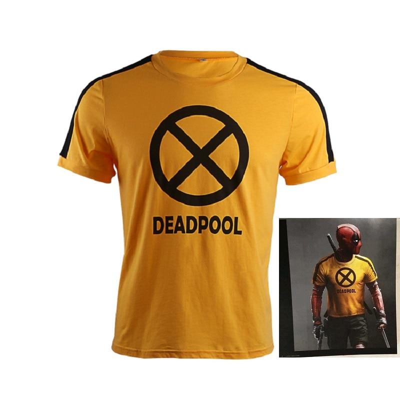 New Arrival Deadpool 2 T-Shirt Deadpool Cosplay Costume X Force Superhero Wade Winston Wilson 100% Cotton T-Shirt Tops Tee Shirt