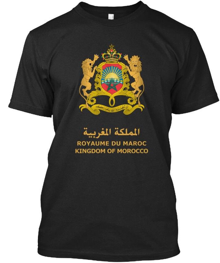 T-Shirt Summer Novelty Cartoon T Shirt Kingdom of Morocco - Royaume Du Maroc Standard Unisex T-Shirt Movie Shirt