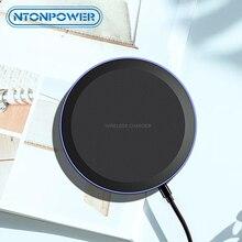 NTONPOWER تشى اللاسلكية شاحن آيفون X Xs ماكس XR 8 زائد سريع كابل شحن لهواتف سامسونج S8 s9 plus نوت 9 8 USB الهاتف وسادة الشاحن