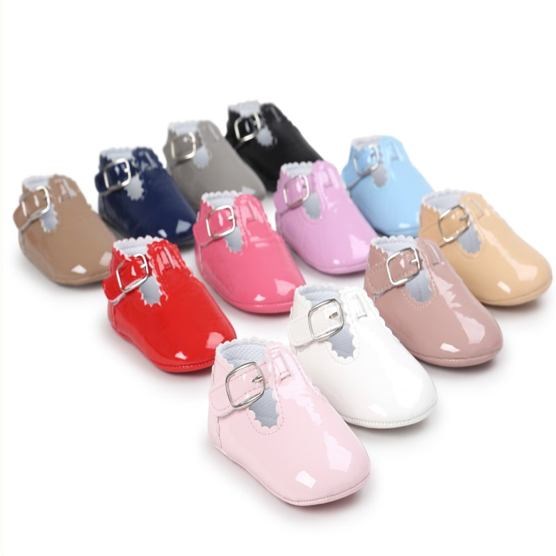 New Style Infant Toddler Shoes First Walkers Pu leather Baby Shoes Fashion Soft Soled Shoes #C