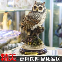 Hand engraving Artwork Owl Home Furnishing creative living room TV cabinet Decor desk decoration crafts on the move