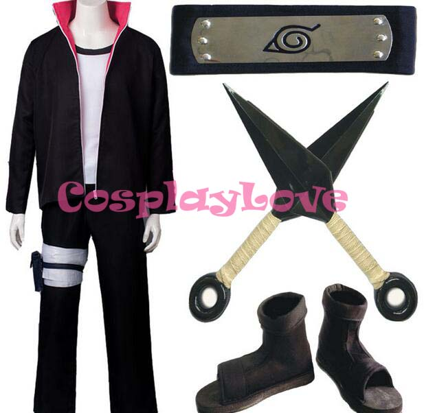 High Quality Newest Hot Sale Stock Japanese Anime Boruto Naruto the Movie Uzumaki Boruto Cosplay Costume For Christmas Halloween
